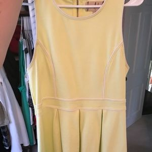 Pale green cotton pleated dress